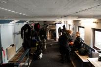 Blick in den Taucher-Raum des Hotel Urisee